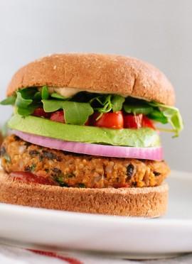 Sweet Potato & Black Bean Veggie Burgers