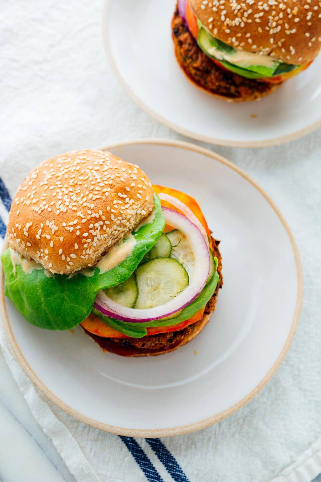 Favorite Veggie Burgers Recipe Cookie And Kate