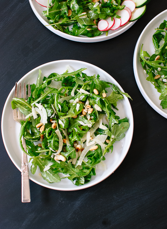 Arugula, Fennel and Pine Nut Salad
