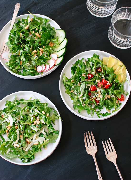 Arugula salad variations