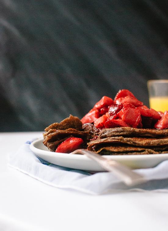 buckwheat pancakes recipe - recipe at cookieandkate.com