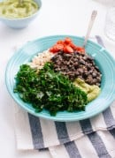 Kale, black bean and avocado burrito bowl - recipe at cookieandkate.com