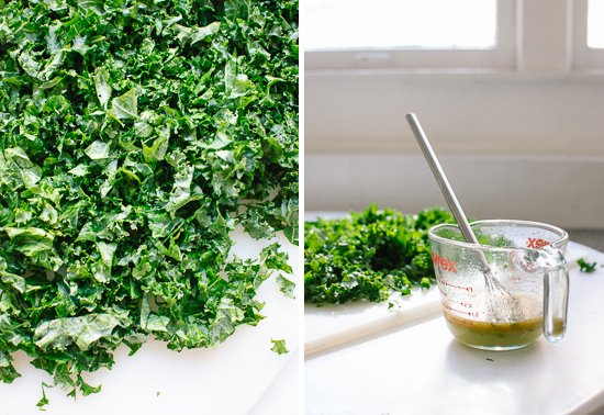 marinated raw kale