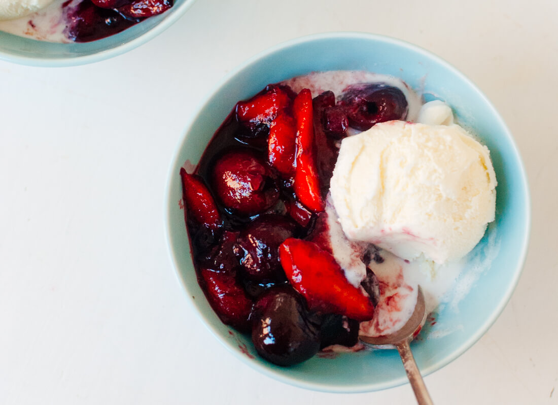 Balsamic Stone Fruit Sundae