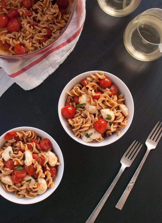Caprese pasta salad - cookieandkate.com