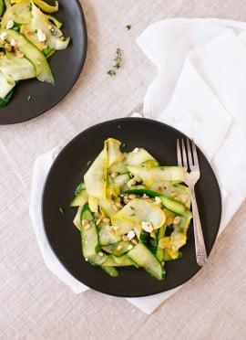Summer Squash Salad with Lemon Citronette