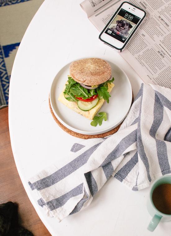 Avocado, Egg and English Muffin Sandwich Recipe