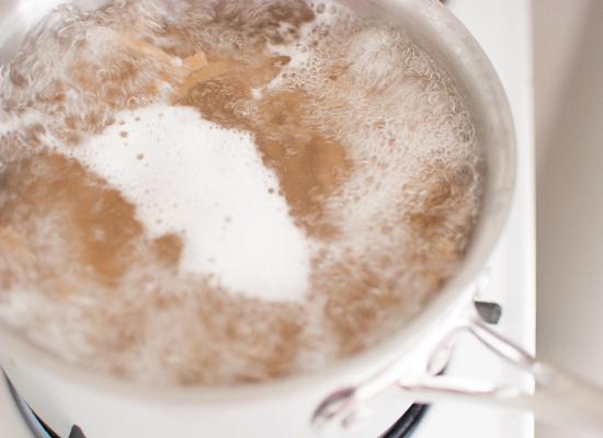 fettuccine cooking