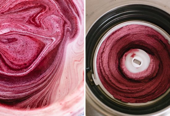 how to make blueberry frozen yogurt
