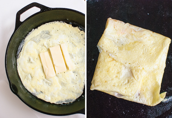 how to make scrambled egg sandwich