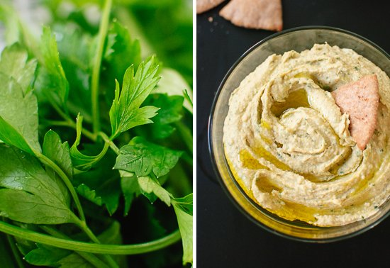 Lemon-parsley hummus
