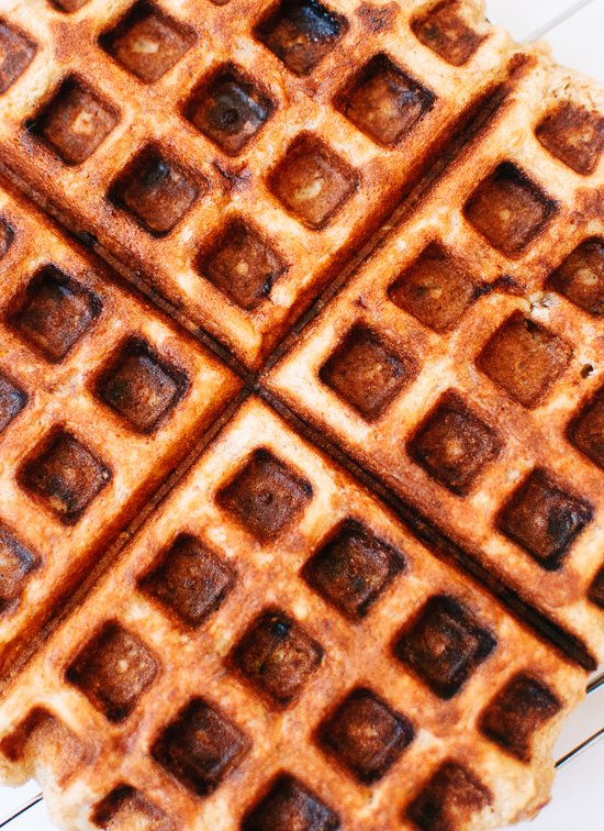 how to make banana nut waffles