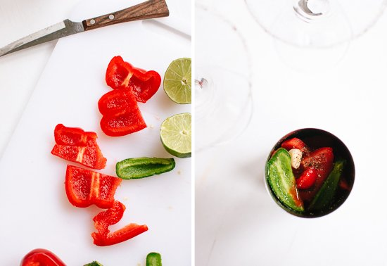 bell pepper, jalapeno and lime cocktail