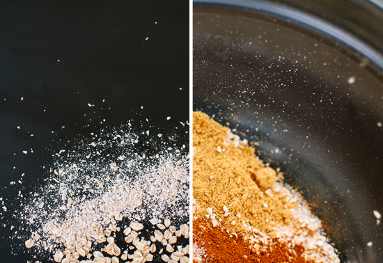 oat flour and spices