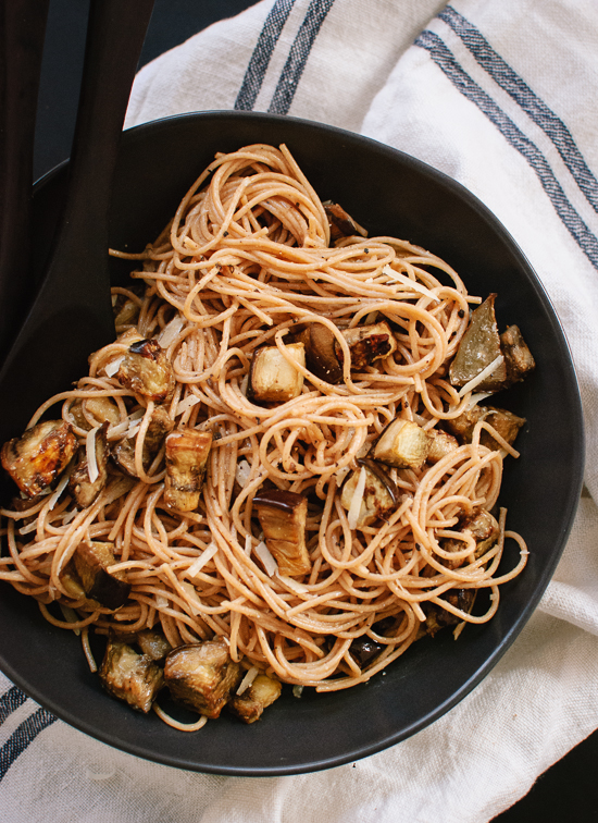Eggplant Spaghetti With Miso Brown Butter Cookie And Kate