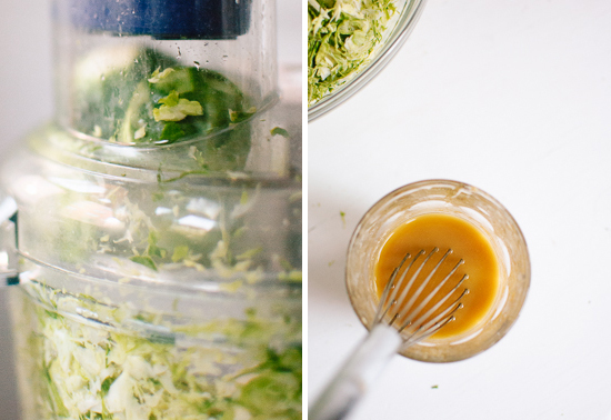 shredded brussels sprouts honey mustard dressing