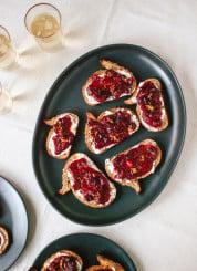 Cranberry crostini