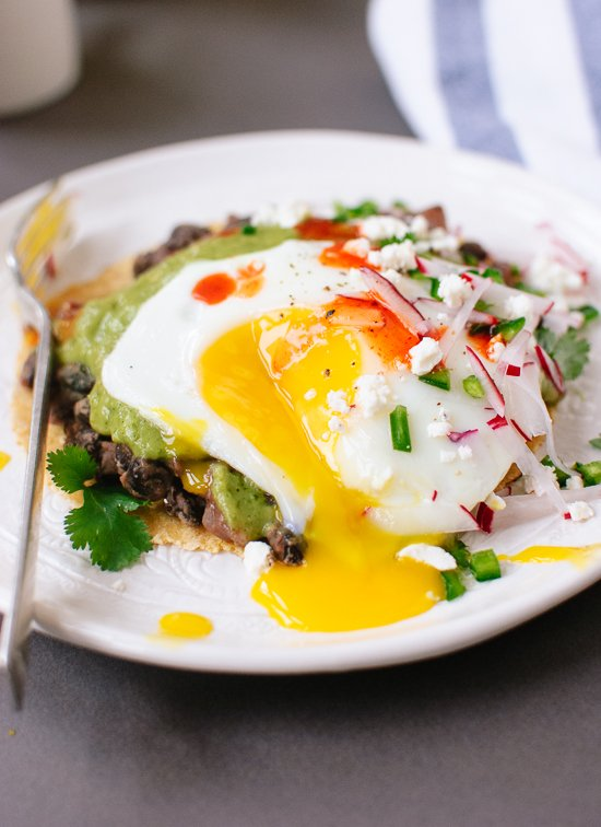 Huevos Rancheros with Avocado Salsa Verde - Cookie and Kate