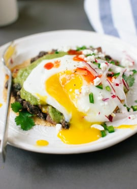 Huevos Rancheros with Avocado Salsa Verde
