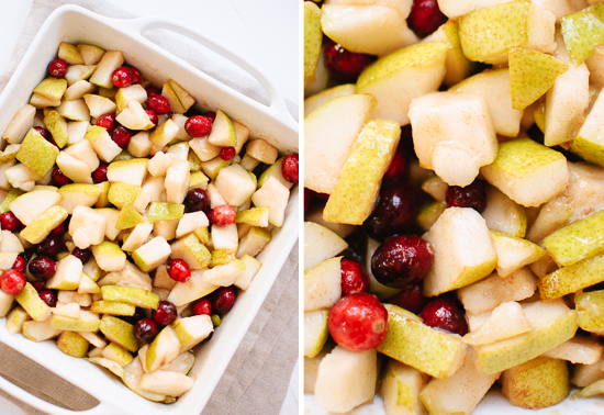 pear and cranberries