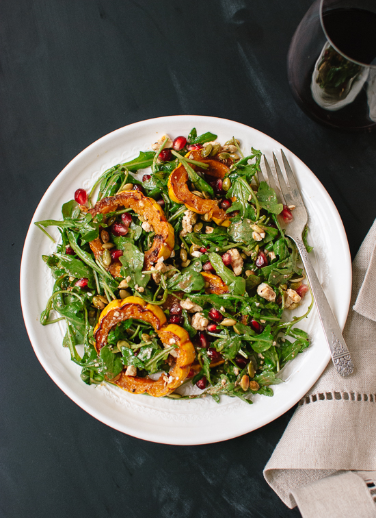 Delicata, Pomegranate and Arugula Salad - Cookie and Kate