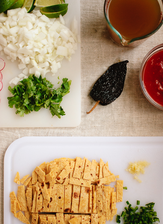 vegetarian tortilla soup ingredients