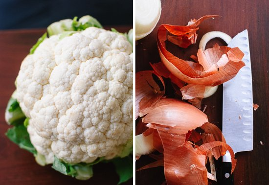 cauliflower and onions