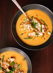 Curried cauliflower soup recipe - cookieandkate.com