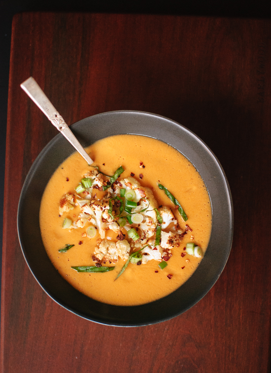 Curried cauliflower soup recipe