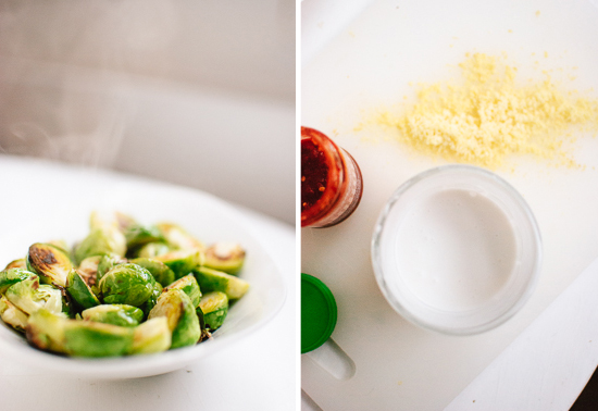 hot brussels sprouts and coconut ginger sauce ingredients