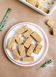 Lemon, rosemary and olive oil shortbread