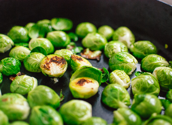Quick roasted brussels sprouts - recipe at cookieandkate.com