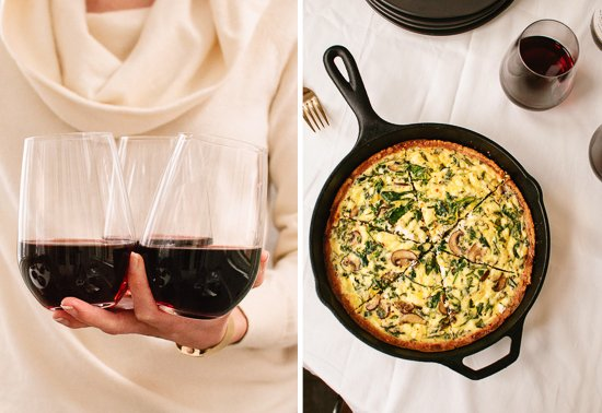 Robert Mondavi private selection pinot noir with quiche