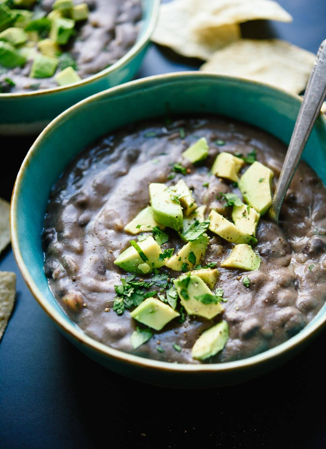 Spicy black bean soup recipe cookie and kate amazing vegetarian black bean soup ready in 45 minutes this soup makes great leftovers forumfinder Choice Image