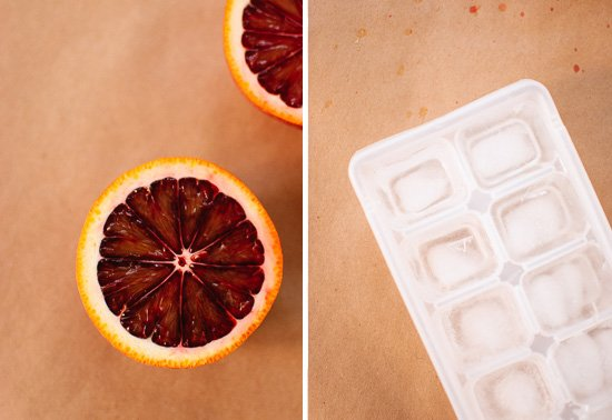 blood oranges and ice