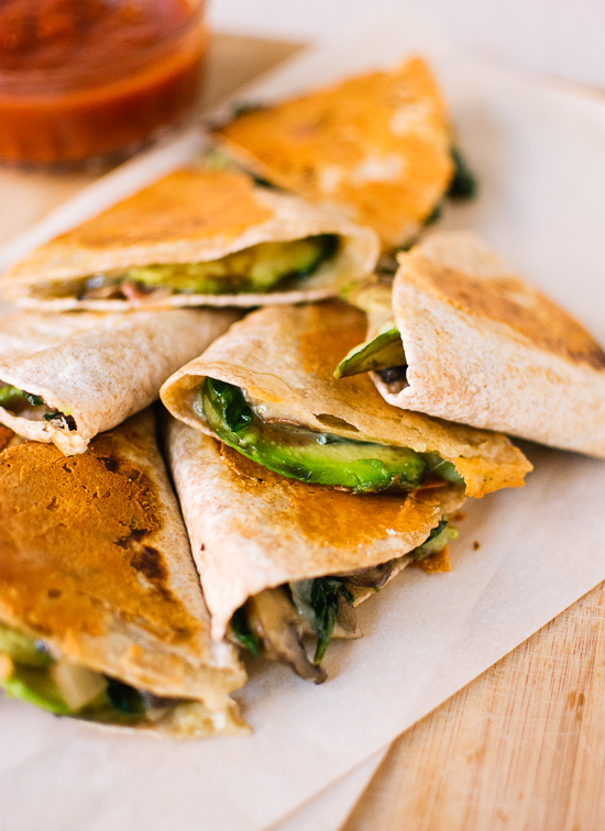 Ideas For Mexican Dinner Party Part - 49: Crispy Mushroom, Spinach And Avocado Quesadillas - Recipe At  Cookieandkate.com