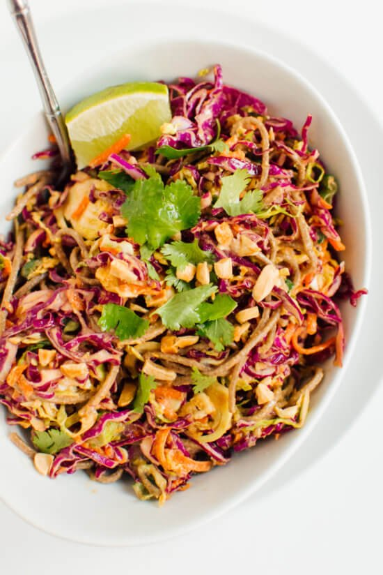 This slaw is addictive! Peanut-Sesame Slaw with Soba Noodles