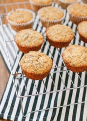 Double lemon poppy seed muffins (made with whole wheat flour and yogurt) cookieandkate.com