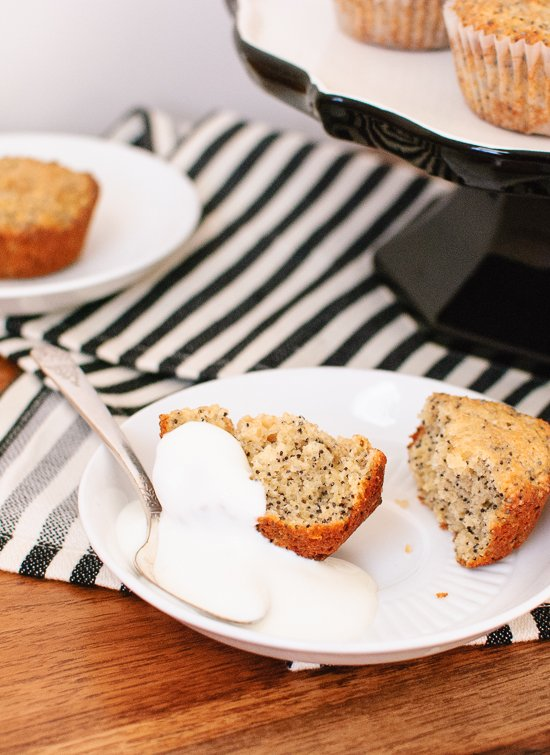 Double lemon poppy seed muffins with yogurt - cookieandkate.com