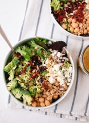 Greek salad with broccoli and sun-dried tomatoes - cookieandkate.com