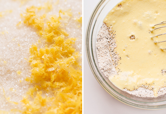 lemon poppy seed muffin batter
