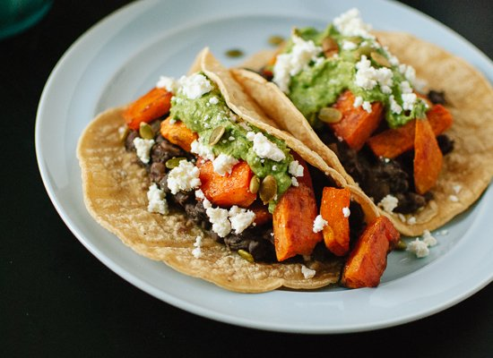 Sweet potato and black bean tacos recipe - cookieandkate.com