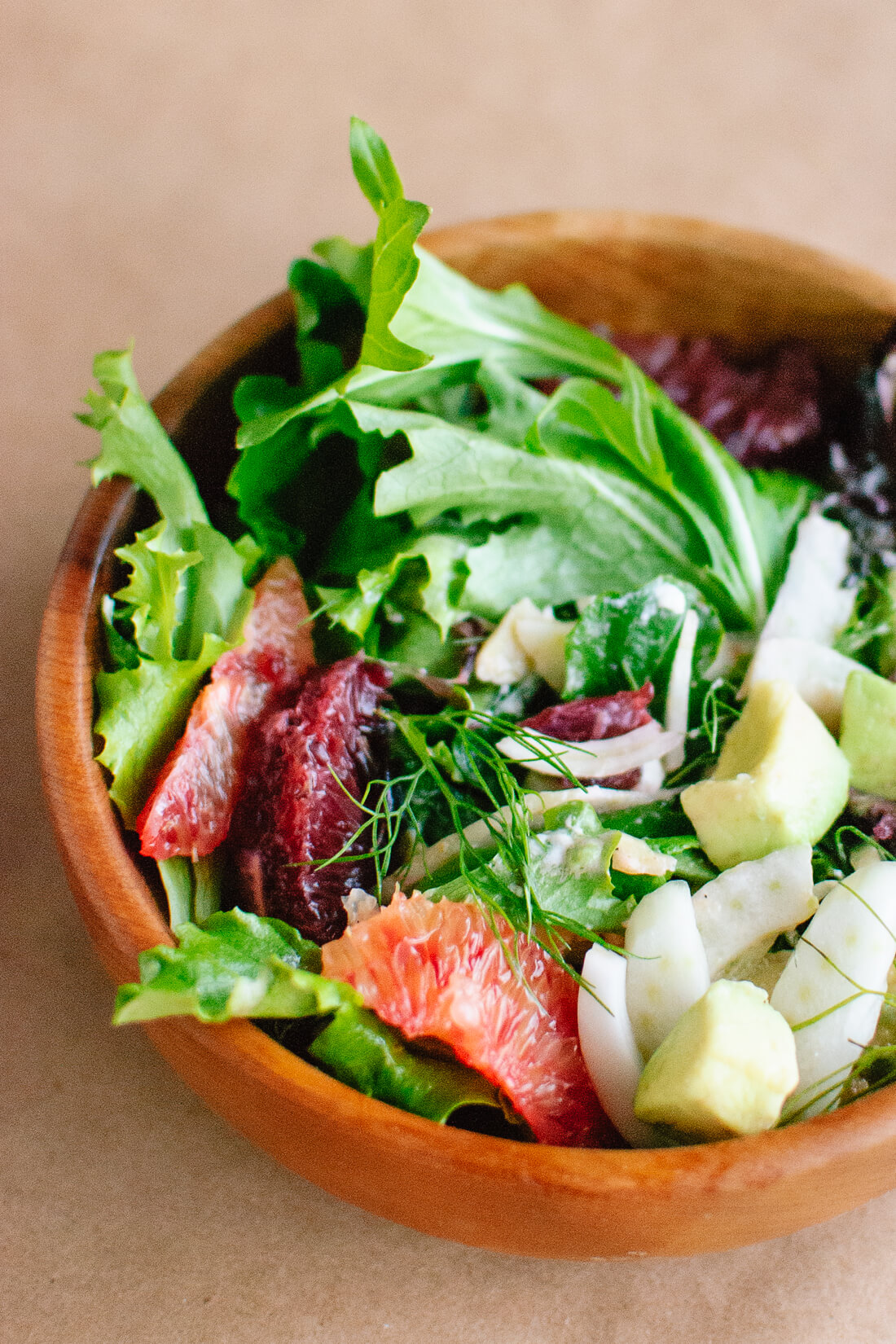 Blood Orange, Fennel and Avocado Salad with Lemon Citronette