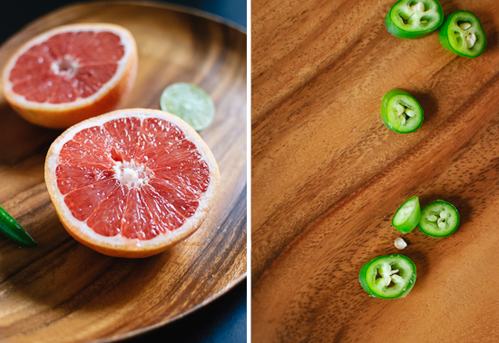 grapefruit and serrano pepper