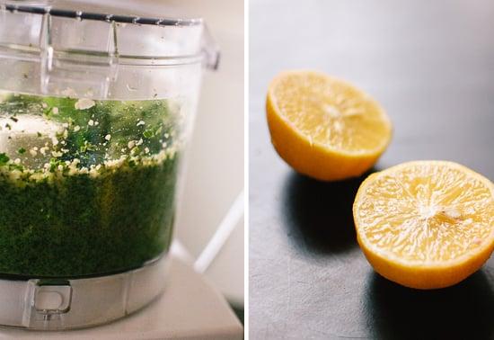 kale, garlic and lemon pesto