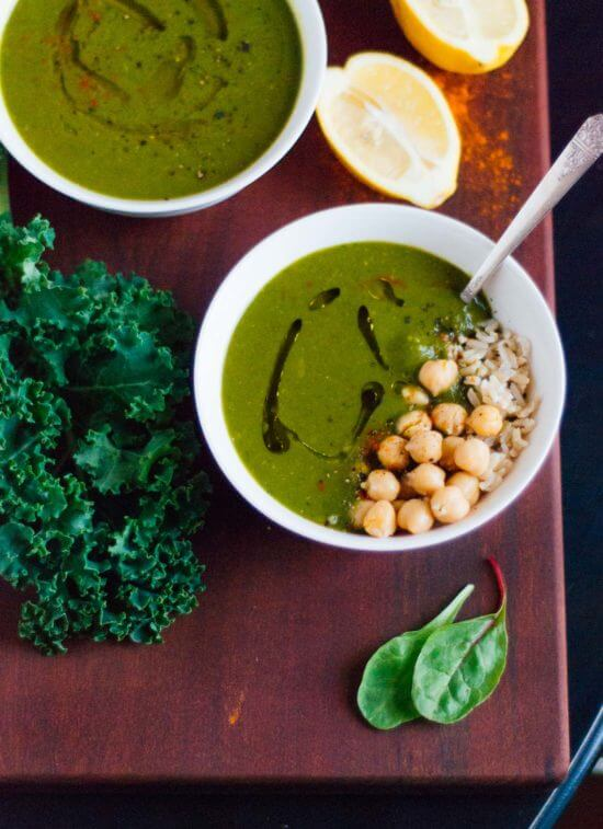 Redeeming green soup with lemon and cayenne - cookieandkate.com