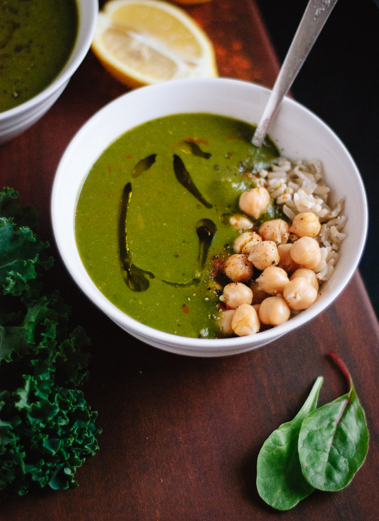 Redeeming green soup with lemon and cayenne recipe