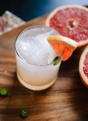Serrano-spiced paloma cocktail recipe - cookieandkate.com