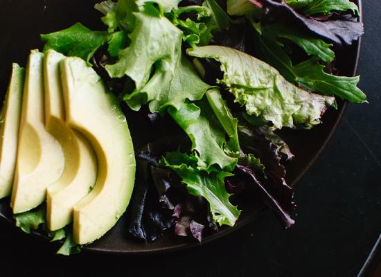 Avocado and greens