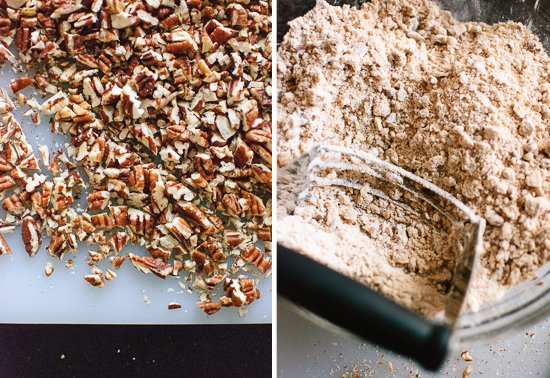 chopped pecans and coconut oil scones